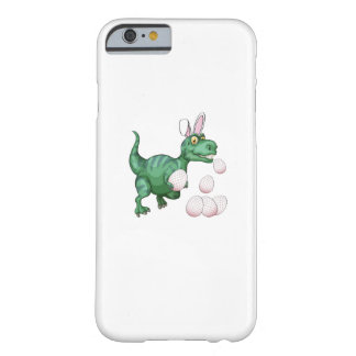 Coque Barely There iPhone 6 Oeuf de pâques drôle de lapin de T-Rex de