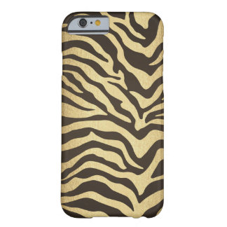Coque Barely There iPhone 6 Or fascinant moderne d'impression de peau d'animal