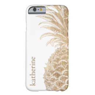 Coque Barely There iPhone 6 Or Pinneapple tropical