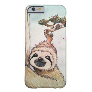Coque Barely There iPhone 6 Paresse animale mignonne avec la cabane dans un