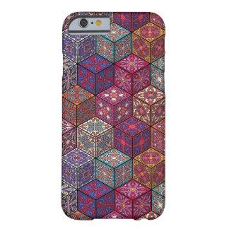 Coque Barely There iPhone 6 Patchwork vintage avec les éléments floraux de