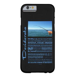 Coque Barely There iPhone 6 Pêche de poème de desiderata au milieu de l'océan