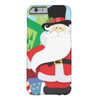 Coque Barely There iPhone 6 père Noël dans le tophat par la pile de presentts