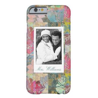 Coque Barely There iPhone 6 Photo faite sur commande et motif grunge floral