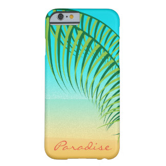 Coque Barely There iPhone 6 Plage abandonnée par palmettes tropicales