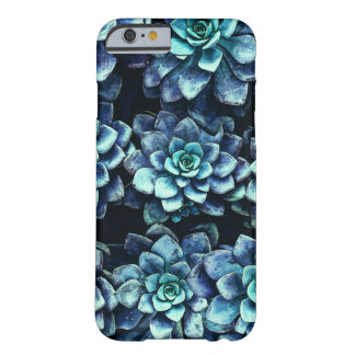 Coque Barely There iPhone 6 Plantes succulents bleus et verts