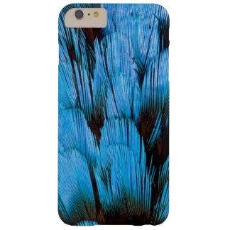 Coque Barely There iPhone 6 Plus Abrégé sur à capuchon bleu plume de Pita