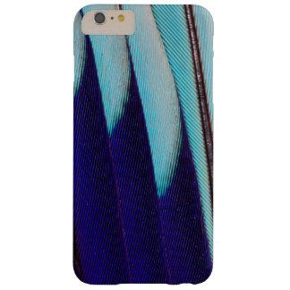 Coque Barely There iPhone 6 Plus Abrégé sur bleu conception de plume