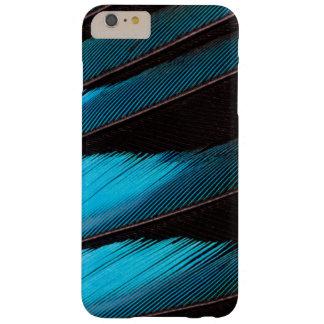Coque Barely There iPhone 6 Plus Abrégé sur Bleu-Gonflé plume de rouleau