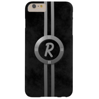 Coque Barely There iPhone 6 Plus Anneau gris et barres de bronze industriel décoré