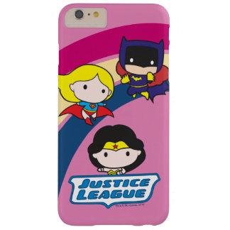 Coque Barely There iPhone 6 Plus Arc-en-ciel de ligue de justice de Chibi