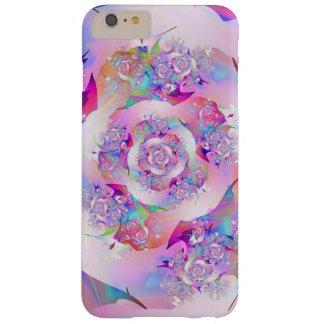 Coque Barely There iPhone 6 Plus Art fin de fractale de premier rose