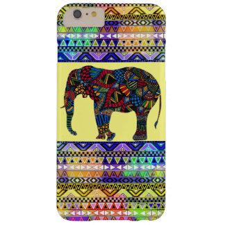 Coque Barely There iPhone 6 Plus (Aztèque intelligent coloré d'éléphant)