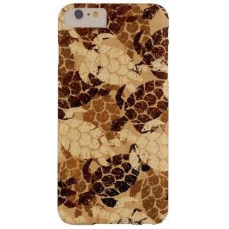 Coque Barely There iPhone 6 Plus Bois de Koa de Faux de Hawaïen de tortue de mer de
