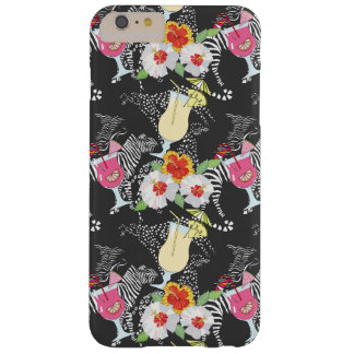 Coque Barely There iPhone 6 Plus Boissons tropicales avec des animaux