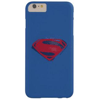 Coque Barely There iPhone 6 Plus Brosse de la ligue de justice | et symbole tramé