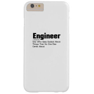 Coque Barely There iPhone 6 Plus Cadeau drôle de définition d'ingénieur pour