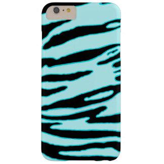 Coque Barely There iPhone 6 Plus Caisse bleu-clair de rayure de tigre