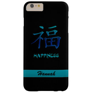 Coque Barely There iPhone 6 Plus Caisse chinoise bleue cyan de l'iPhone 6 de kanji