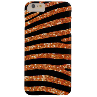 Coque Barely There iPhone 6 Plus Caisse orange de rayure de zèbre de parties