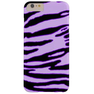 Coque Barely There iPhone 6 Plus Caisse pourpre de rayure de tigre