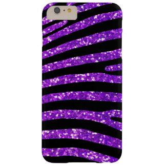 Coque Barely There iPhone 6 Plus Caisse pourpre de rayure de zèbre de parties