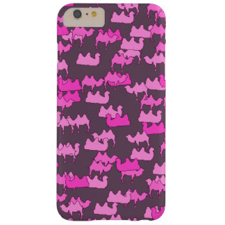 Coque Barely There iPhone 6 Plus Camelflage rose, camouflage drôle de chameau
