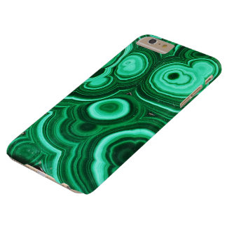 Coque Barely There iPhone 6 Plus Cas de l'iPhone 7 de motif de malachite