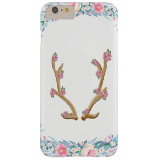 Coque Barely There iPhone 6 Plus Cas floral mignon de téléphone d'Antler d'élans