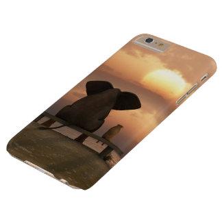 Coque Barely There iPhone 6 Plus Cas plus de l'iPhone 6 d'éléphant et de chien à