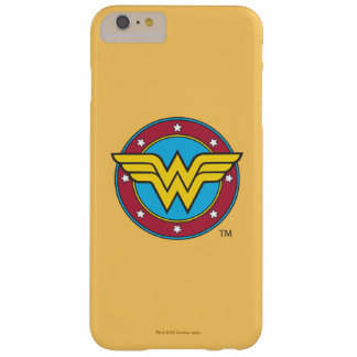 Coque Barely There iPhone 6 Plus Cercle de la femme de merveille | et logo