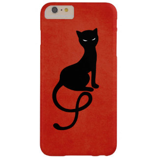Coque Barely There iPhone 6 Plus Chat noir mauvais aimable rouge