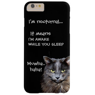 "Coque Barely There iPhone 6 Plus Chats de Badass - ""je suis nocturne. """