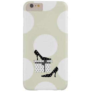 Coque Barely There iPhone 6 Plus Chaussures de talon haut, pois, boîte-cadeau -