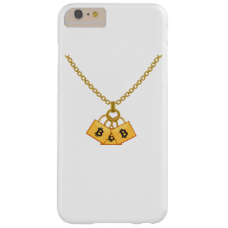 Coque Barely There iPhone 6 Plus Collier drôle frais de Bitcoin Cryptocurrency
