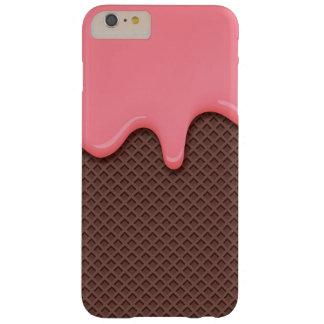 Coque Barely There iPhone 6 Plus Cornet de crème glacée de fraise
