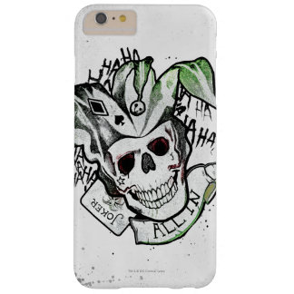 """Coque Barely There iPhone 6 Plus Crâne de joker du peloton   de suicide """"tout dans"""""""