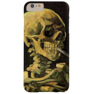 Coque Barely There iPhone 6 Plus Crâne de Van Gogh avec la cigarette brûlante, art