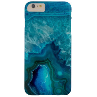 Coque Barely There iPhone 6 Plus Cristal bleu Geode d'agate