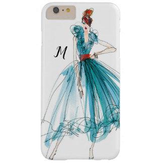 Coque Barely There iPhone 6 Plus Croquis de mode de couture d'Apple sauvage   Haute