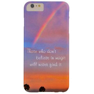 """Coque Barely There iPhone 6 Plus """"Croyez en"""" photo magique de lever de soleil"""