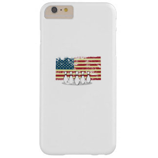 Coque Barely There iPhone 6 Plus Cru de roulement de drapeau américain