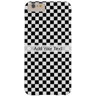 Coque Barely There iPhone 6 Plus Damier classique noir et blanc par STaylor