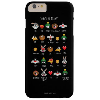 Coque Barely There iPhone 6 Plus Diagramme LOONEY de TUNES™ Emoji