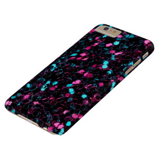 Coque Barely There iPhone 6 Plus Étincelles bleues roses scintillantes de parties