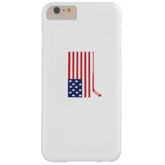 Coque Barely There iPhone 6 Plus Fans de bâton de hockey et d'hockey de drapeau