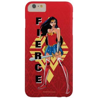 Coque Barely There iPhone 6 Plus Femme de merveille avec l'épée - féroce
