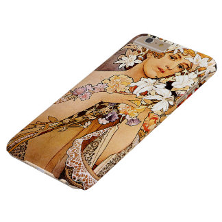 Coque Barely There iPhone 6 Plus Fleur d'Alphonse Mucha