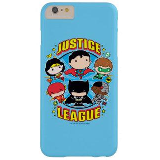 Coque Barely There iPhone 6 Plus Groupe de ligue de justice de Chibi