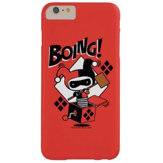 Coque Barely There iPhone 6 Plus Harley-Quinn-Dans-UN-Box de Chibi avec le marteau